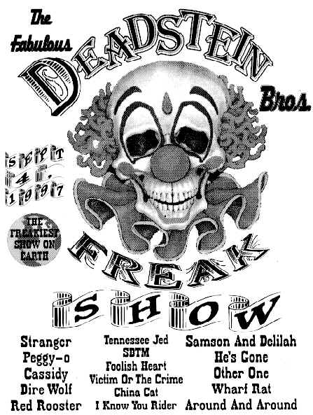 The Fabulous Deadstein Bros.  The Freakiest show on Earth.